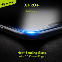 Benks 3D Curved Edge Full Glass Screen Protectors For Iphone X Iphone 10 Tempered Glass Films