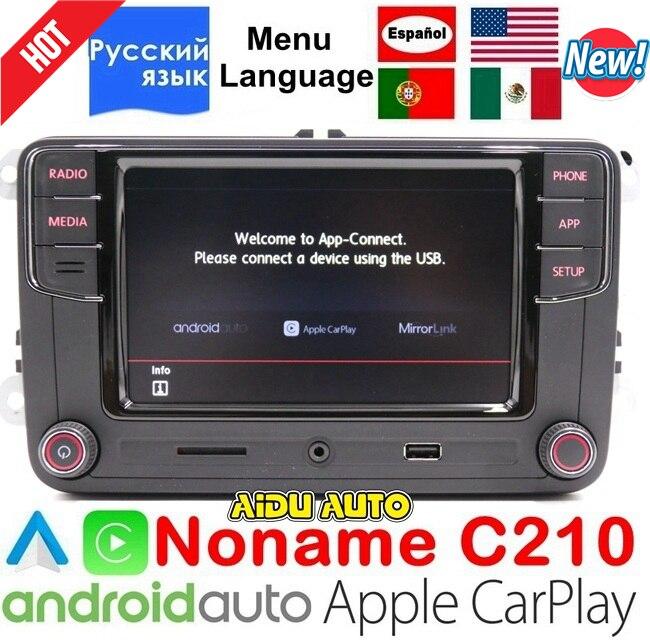 CarPlay Android Auto RCD330 RCD340 Plus Noname Radio 187B C210 Pour VW Tiguan Golf 5 6 Jetta MK5 MK6 Passat CC Polo 6RD035187B
