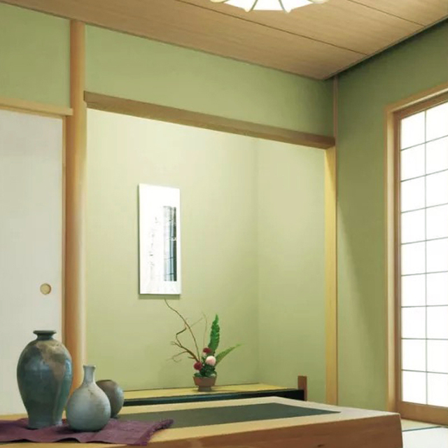 Tatami Wallpaper Matcha Green Plain Japanese Decorative Bedroom Wall Paper  Roll