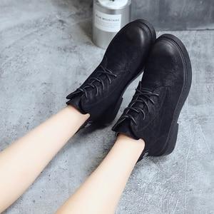 Image 4 - 2018 outono/inverno nova Martin botas para as mulheres com o versátil estudantes com retro Britânico estilos Europeus populares das Mulheres botas