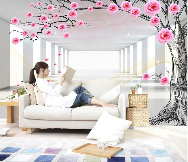 Custom 3d Mural Wallpaper European Style 3D Stereoscopic Rose Tree Living  Room TV Backdrop Bedroom 3d Photo Wallpaper 20155654 In Wallpapers From  Home ... Part 62