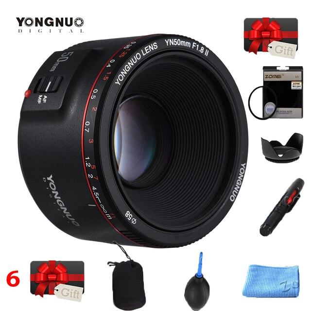 YONGNUO YN50mm YN50 F1.8 השני מצלמה עדשת EF 50mm AF MF עדשות עבור Canon Rebel T6 EOS 700D 750D 800D 5D Mark II IV 10D 1300D