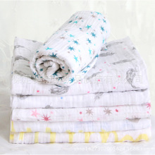 Baby Blankets Newborn Selling Time-limited Geometric 0-3 Months Baby Blanket 3pcs/lot 100% Organic Muslin Swaddle Receiving
