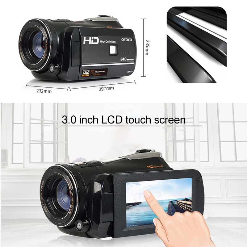 1080p Full HD Digital Wifi Camcorder DV Video DSLR Camera with Night Vision Infrared 3 Inch LCD Touch Screen Remote Control