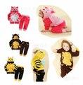 Conjuntos de Roupas Dos Meninos de Primavera Abelha bonito Orelhas Dos Animais Jaqueta + calças Conjuntos Roupas Bebes Meninos Conjunto de Roupas de Bebê Menino Crianças roupas