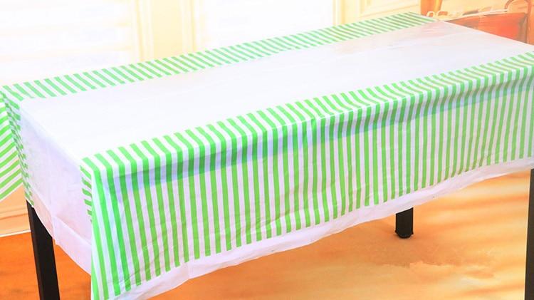 Beau 180*108cm Disposable Polka Stripe Plastic Table Cloth Kids Birthday Party  Decoration Baby Shower Decoration Supplies 3pcs