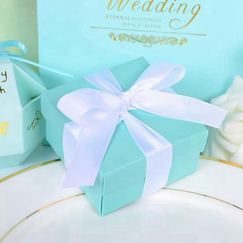 12pcs Tiffany Blue Candy Box Wedding Favor Boxes Tiffany Blue Theme