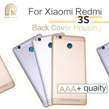 OEM for Xiaomi Redmi 3S / Redmi 3 Pro Back Battery Door Cover Housing with Camera Lens & Power Volume Button Replacement(China)