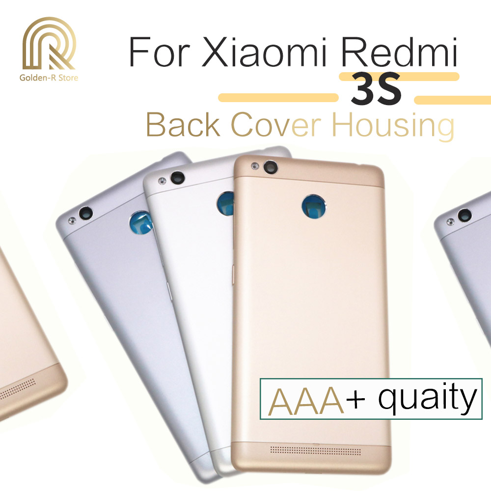 OEM for Xiaomi <font><b>Redmi</b></font> <font><b>3S</b></font> / <font><b>Redmi</b></font> 3 Pro Back <font><b>Battery</b></font> Door <font><b>Cover</b></font> Housing with Camera Lens & Power Volume Button Replacement image
