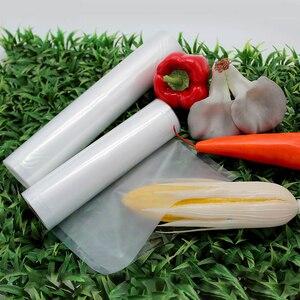 Image 3 - LAIMENG bolsas de vacío para alimentos, 5 rollos por lote, 28cm x 500cm, para envasar al vacío, bolsas de almacenamiento para embalaje al vacío R117