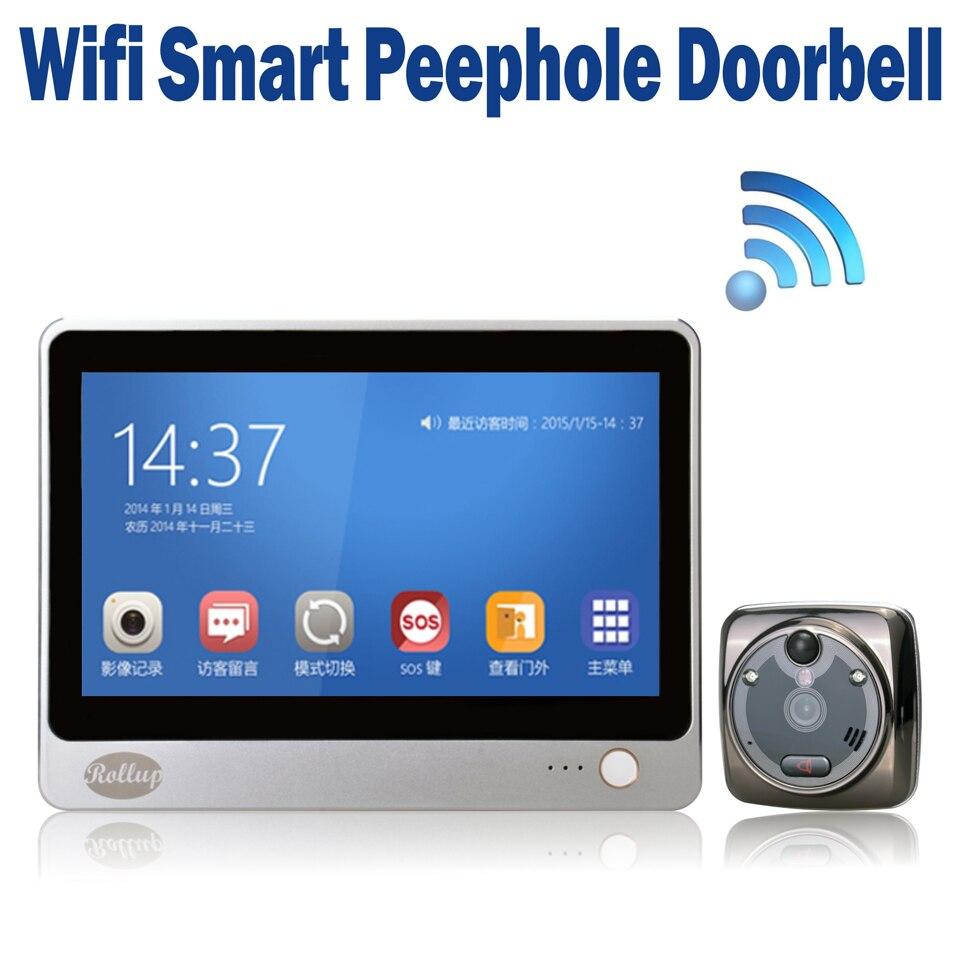 Ihome 8 Wireless Video Door Phone Smart Wifi Peephole