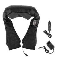 EU Plug Portable Heating Type Kneading Massage Car Home Dual Use Shawl Vertebra Massage Device 4D Body Neck Back Massager Tool