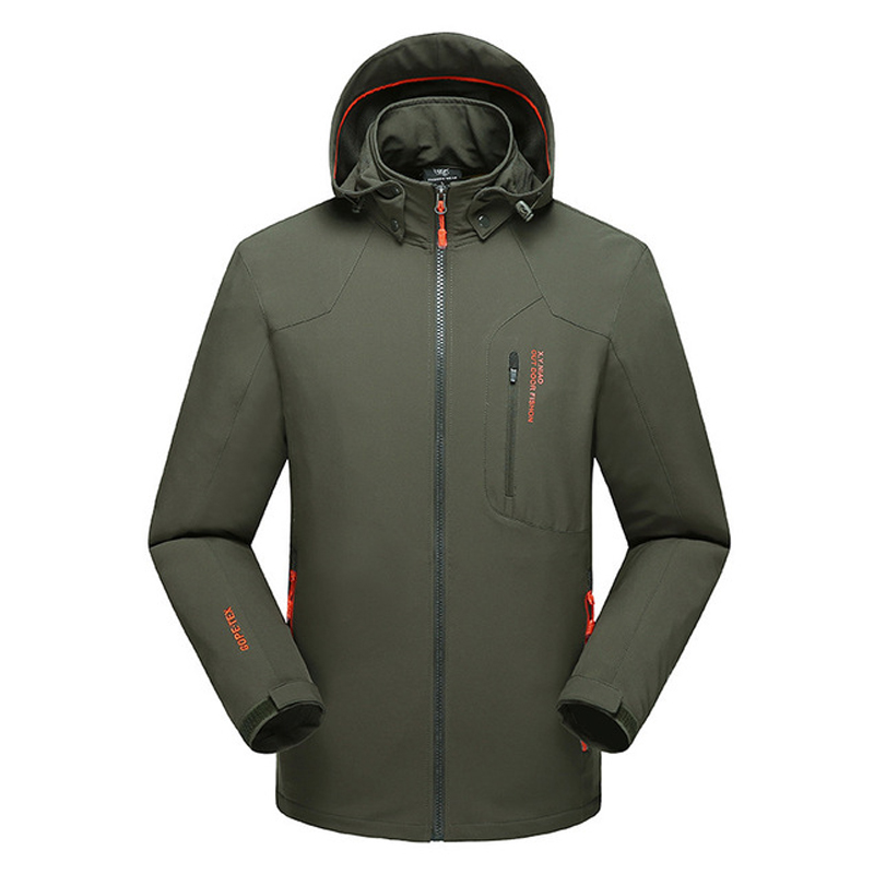 OutDoor Man AUTUMN Winter Jacket Waterproof Windproof New 2019 Wind Breaker Plus Size L-5XL <font><b>6XL</b></font> <font><b>7XL</b></font> <font><b>8XL</b></font> Windbreaker Clothes image