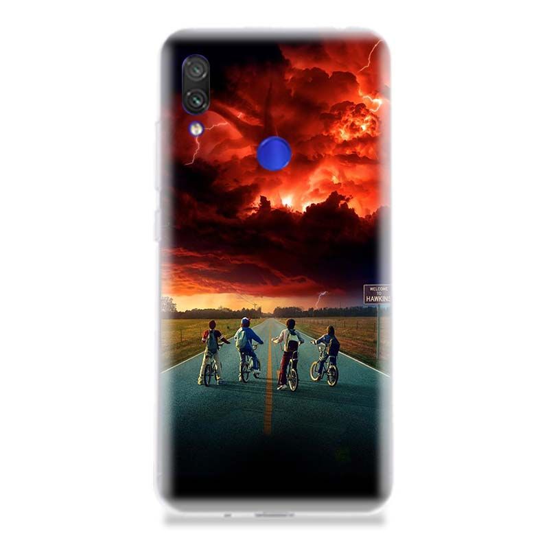 Stranger Things Poster Phone Case for Xiaomi Redmi S2 Y3 Y2 K20 Pro Note 7 6 5 Pro 4 4X Mi Pocophone F1 9 8 A2 Lite Coque Cover in Half wrapped Cases from Cellphones Telecommunications