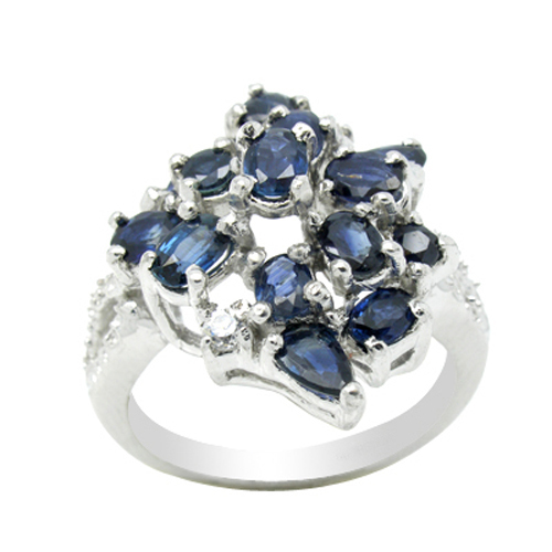 2017 Qi Xuan_Dark Blue Stone Luxury Rings_Fashion Ring_S925 Solid Silver Fashion Dark Blue Rings_Manufacturer Directly Sales 2017 Qi Xuan_Dark Blue Stone Luxury Rings_Fashion Ring_S925 Solid Silver Fashion Dark Blue Rings_Manufacturer Directly Sales