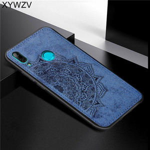 Image 4 - For Huawei Y7 2019 Shockproof Soft TPU Silicone Cloth Texture Hard PC Phone Case For Huawei Y7 2019 Back Cover Huawei Y7 2019