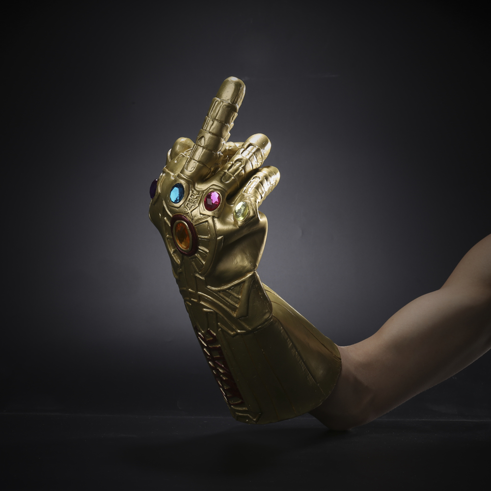 1 pc the avengers thanos infinity gauntlet cosplay gloves prop