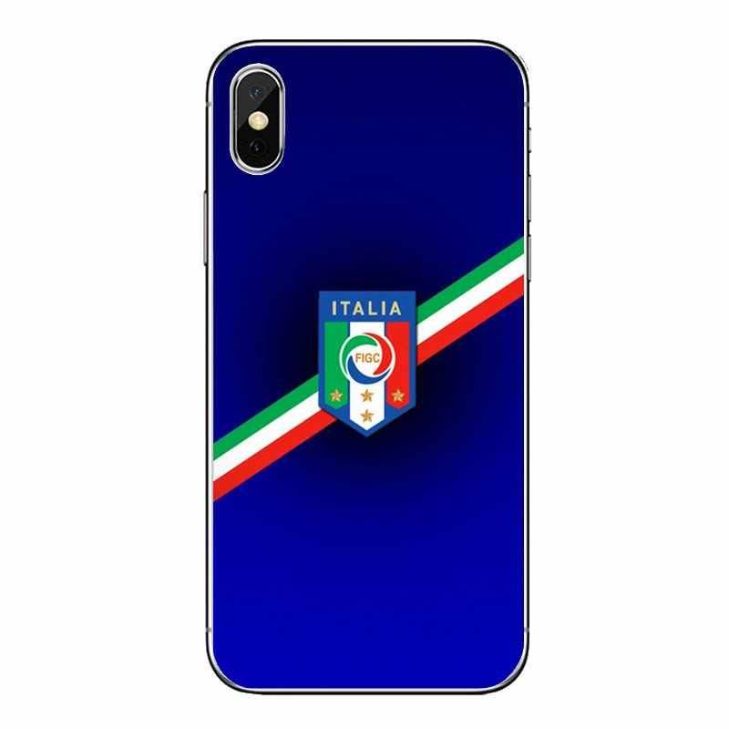 """Мягкий чехол для телефона из ТПУ с принтом """"для samsung Galaxy A5 A6 A7 A8 A9 J4 J5 J7 J8 2017 2018 Plus Prime итальянский Футбол Италия эмблема футбольной команды"""