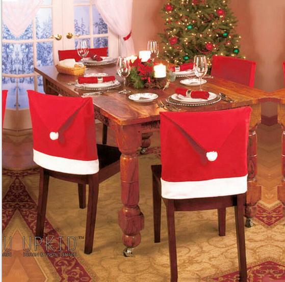 Hot Koop Kerstman Rode Hoed Kerstcadeau Stoel Terug Covers Voor Kerst Diner Decor Nieuwe Partij Levering Gunst Geavanceerde TechnologieëN
