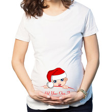Christmas Maternity Clothing Tees Tops Summer Pregnant Maternity T Shirts Short Sleeve Casual Pregnancy Clothes Funny Pregnant(China)