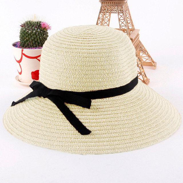 Bohemia Wide Brim Beach Straw Floppy Casule Cowboy Hat