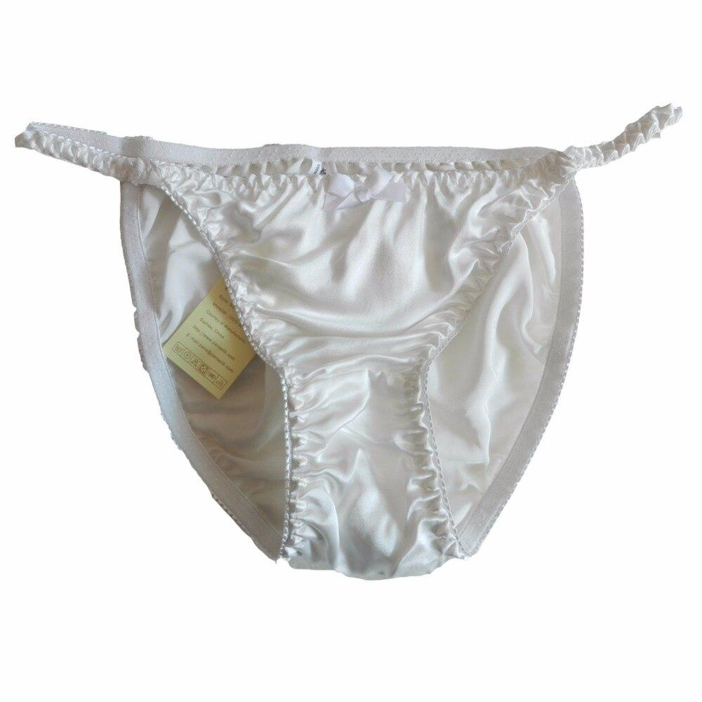be0f6c0888c39 panasilk 8 Pairs 100% Silk Women s String Bikini Panties Size S M L XL 2XL  (W26