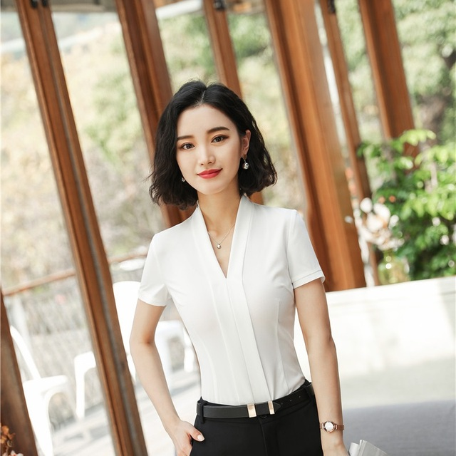 рубашки с коротким рукавом женские 7