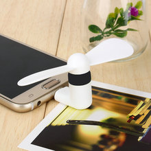 5Pcs USB Fan of Portable OTG Mini Micro USB Large Wind Cooling Fan for Samsung Xiaomi Android Phone Hand Fan