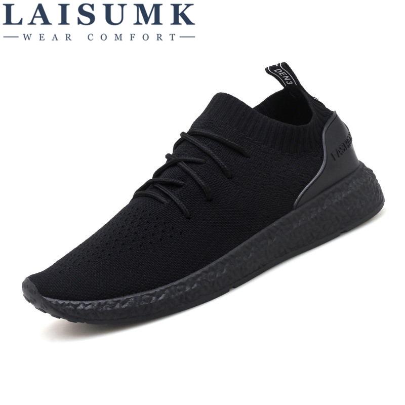 Marca Blanco Transpirable Sapatos Negro Aire Hombre Zapatos Laisumk jSLRq354Ac