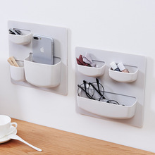 Home Creative Strong Paste Toothpaste Toothbrush Storage Rack Kitchen Bathroom Plastic Watch Glasses Phone Debris Holder