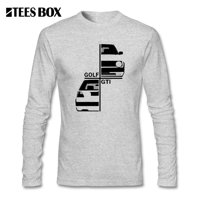 VW Golfing GTI MK2 Car Men T Shirt Long Sleeve Graphic Tees Youth Tops O  Neck Automotive Tee Man Printing 100% Cotton Clothes e31b024081e