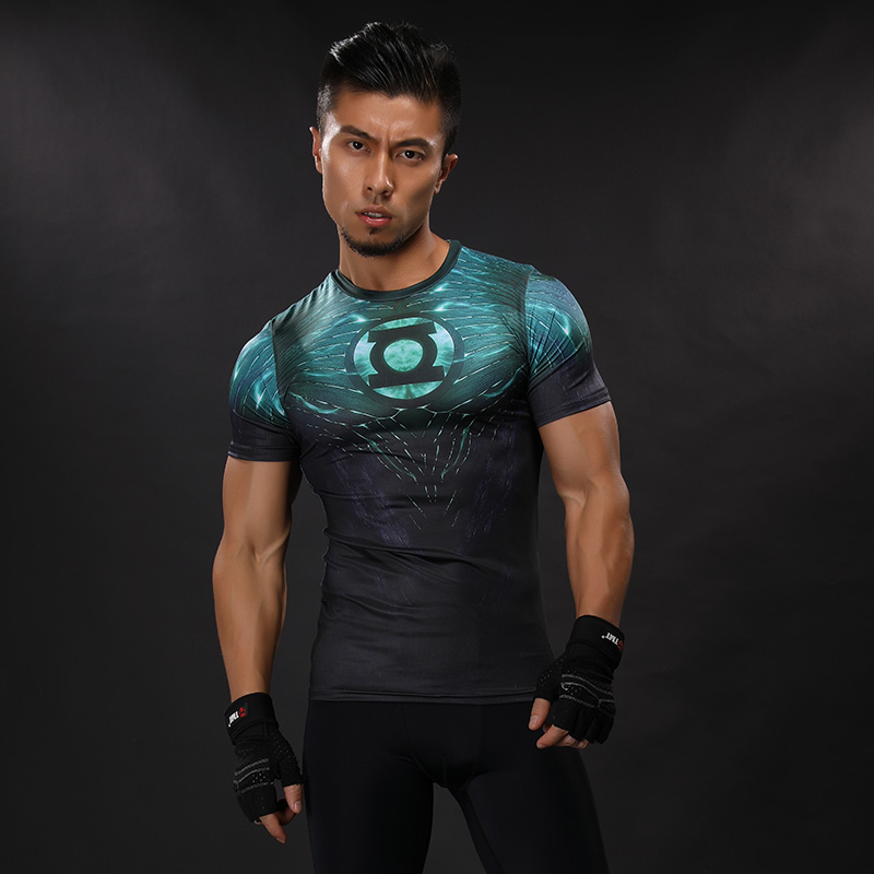 2017 new compression shirt anime superhero punisher captain america superman 3d t shirt fitness tights base layer t shirts-1