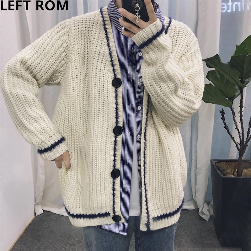 LEFT ROM 2018 man Autumn fashion Design knitting sweater coa