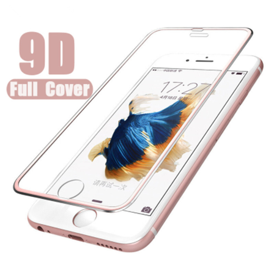 9D Screen Protector Film For Iphone 7 8 6 6s Tempered Glass On IPhone Xr X Xs Max Aluminum Protective Glass For Iphone 6s Plus
