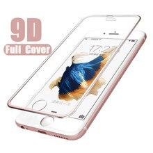 9D Screen protector film voor iphone 7 8 6 6s Gehard glas op iphone xr x xs Max aluminium beschermende glas voor iphone 6s plus