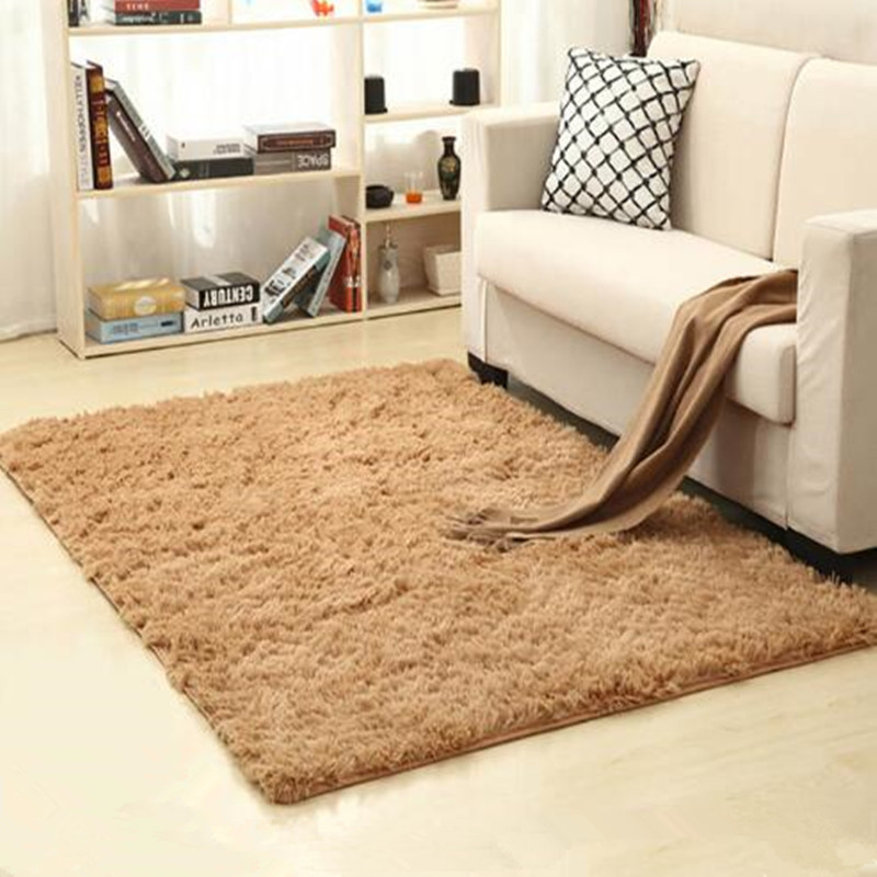 Large Size Fluffy Rugs Anti-Skiding Shaggy Faux Fur Area Rug Dining Room Carpet Floor Mats Camel Living Room Bedroom Alfombras