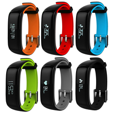 0.86 «Водонепроницаемый IP67 Bluetooth SmartBand Смарт часы-браслет крови Давление монитор сердечного ритма браслет