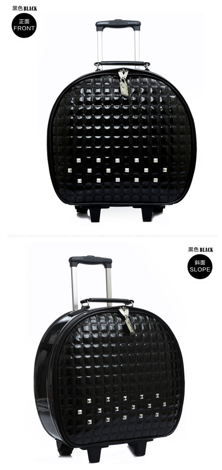 Commercial 16 luggage trolley luggage wheels universal male cattle PU small travel bag small luggage female lovely luggage luggage