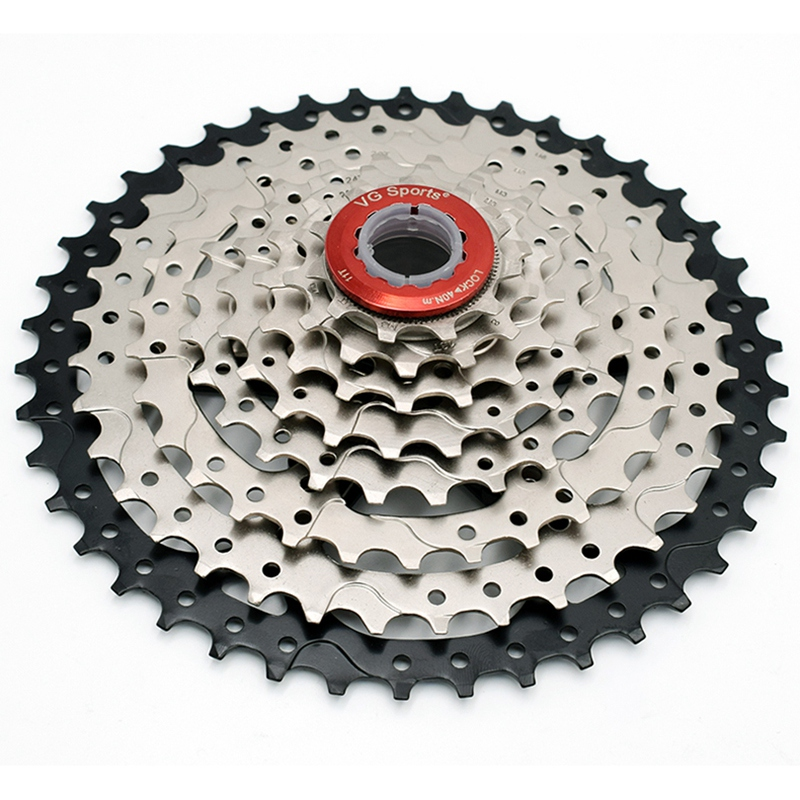 VG Sports 8 Speed <font><b>11</b></font>-42T MTB <font><b>Cassette</b></font> Bicycle Freewheel Sprocket Cdg 8S Mountain Bike Freewheel 42T Ultralight 441g image