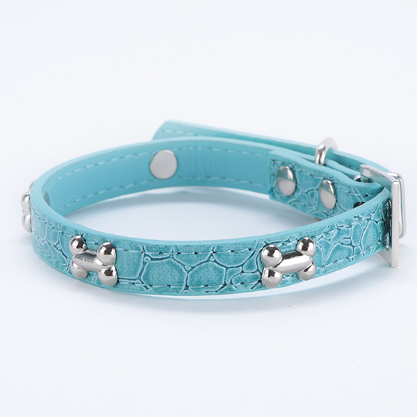 High Quality! Pet Small Dogs Bone Buckle Candy Color PU Leather Collar Cat Studded Neck Strap Dogs Collar