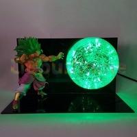 Dragon Ball Z Broly Green Led Night Light Bulb Table Lamp Anime Dragon Ball Z Broly Led Lamp For Christmas Decor
