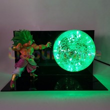 Dragon Ball Z Broly Green Led Night Light Bulb Table Lamp Anime For Christmas Decor