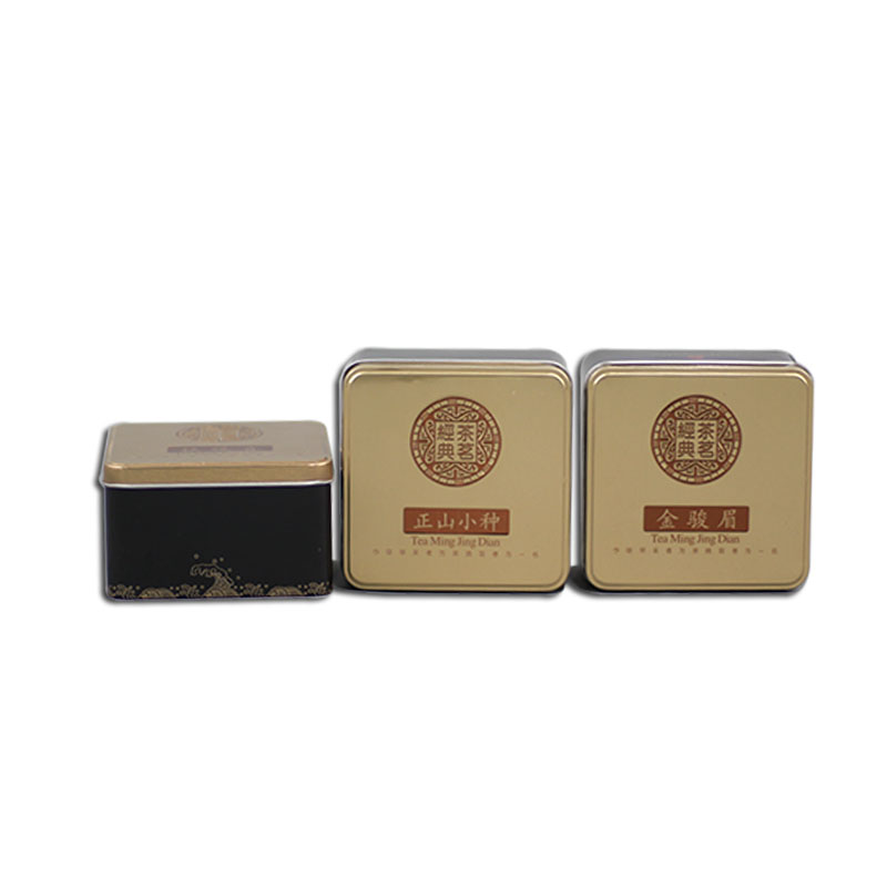 Xin Jia Yi Packaging Metal Tin Small Square Boxes With Embossed Logo Hot Sale Metal Cases Boxes Big Discount
