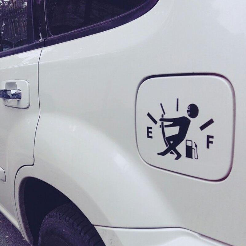 אביזרי רכב 12.7 * 9.2CM דלק לעוד בנזין קאפ ויניל מצחיק רכב מדבקות סייד מדבקות עיצוב חיצוני אביזרי פולקסווגן אאודי הונדה (5)