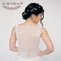 Rose Moda Cap Sleeves Lace Trumpet Wedding Dress 2019