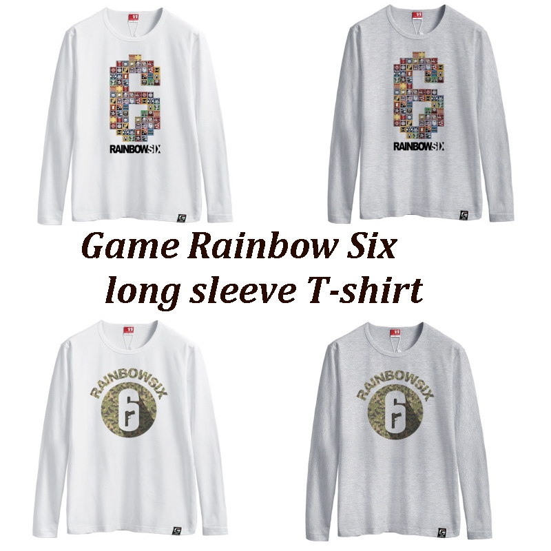 Game Rainbow Six Siege A T-shirt with long sleeves cotton round collar T-shirt  men and women in the summer E-sports games
