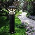 Alumínio + Energia Solar Poste de Luz Da Lâmpada Ao Ar Livre Luminária Europeu Do Vintage Bronze Lâmpadas Led E27 Lâmpada de Iluminação do Trajeto Ao Ar Livre Incluem