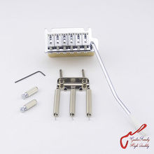 1 Set GuitarFamily Super Quality Chrome 2 Point  Tremolo System  Bridge With Brass Block  ( #1260 ) MADE IN TAIWAN