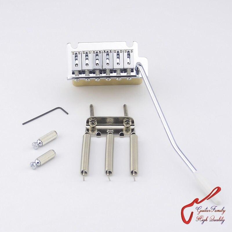 GuitarFamily, 1 комплект, супер качество, хромированная 2-точечная Система Tremolo, с латунным блоком (#1260), изготовленная в Тайване