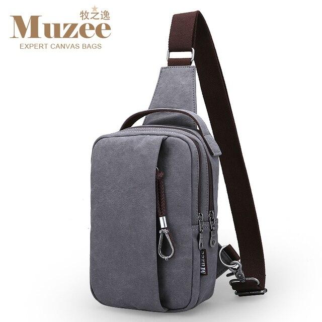 Muzee 2017 New Chest Bag Men Sling bag Male Shoulder Waist Bag handbag Crossbody bag Large Capacity Travel bag